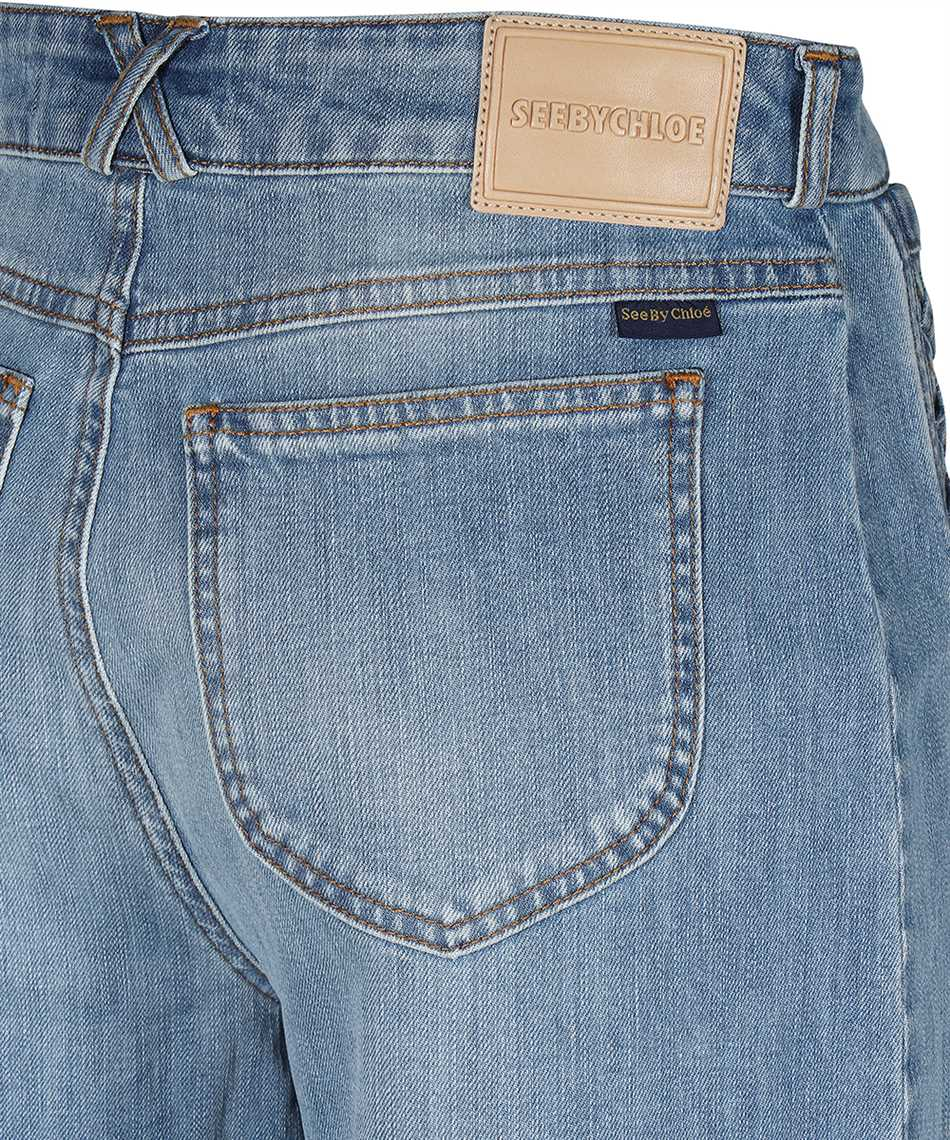 See By Chloè CHS21SDP02150 SIGNATURE JEAN Shorts 3