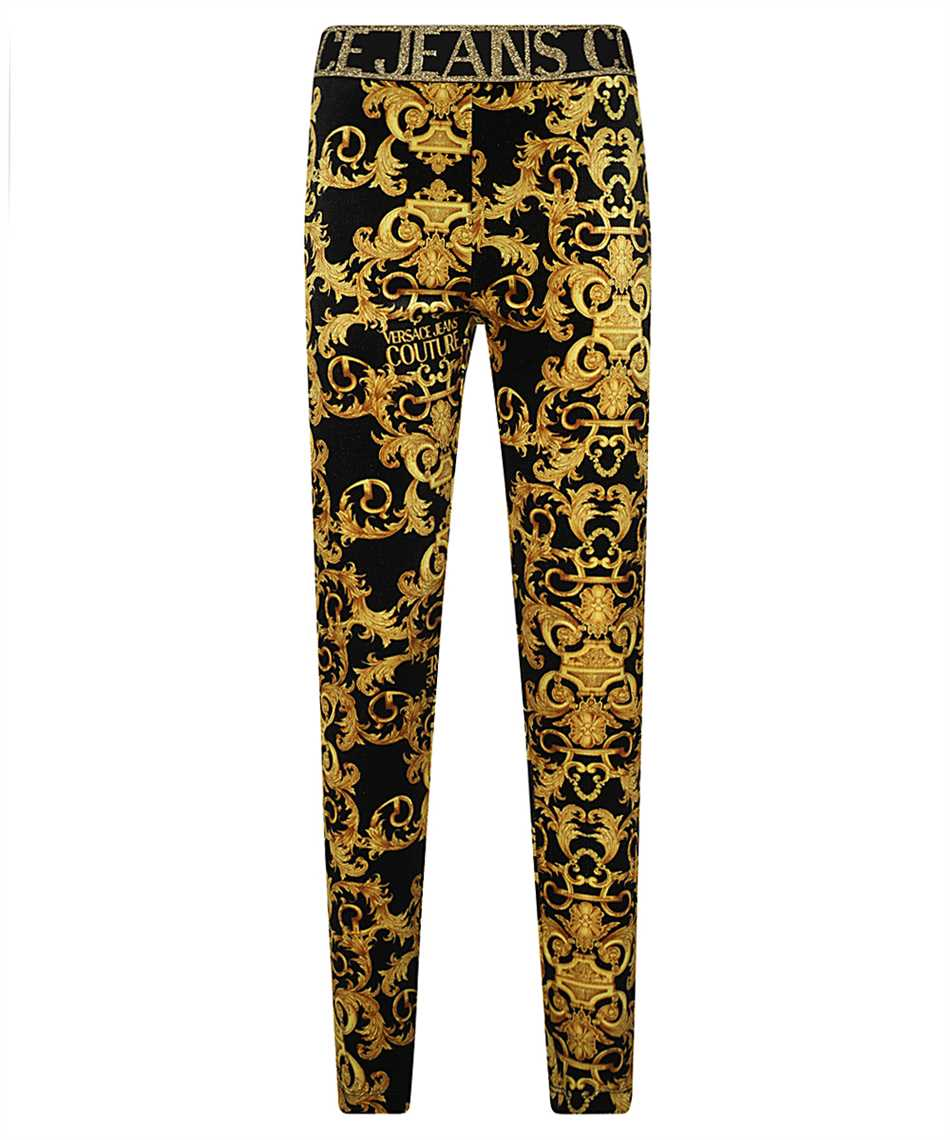 Versace Jeans Couture D5HWA101 S0034 VELVET BAROQE PRINT Trousers 1