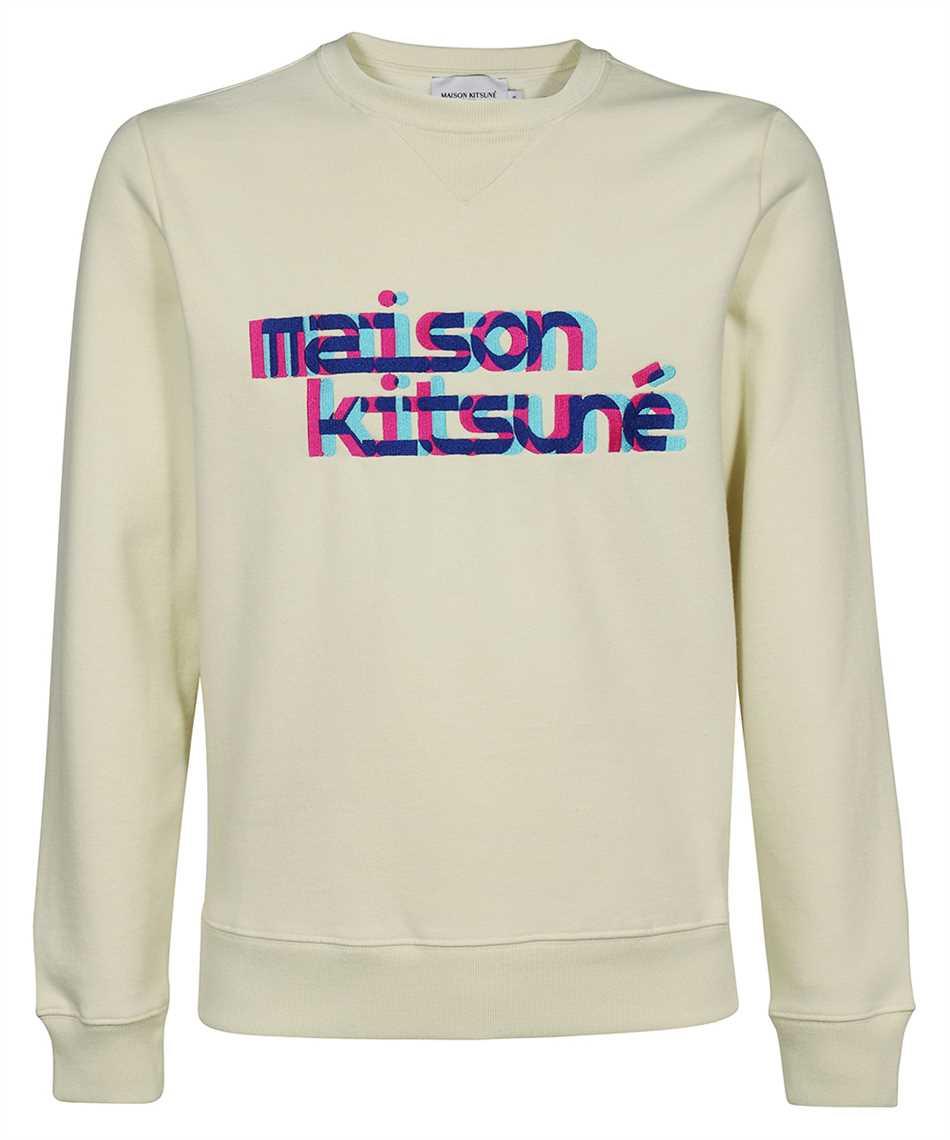 Maison Kitsune HM00330KM0020 NEON LINE TYPO EMBROIDERY REGULAR Sweatshirt 1