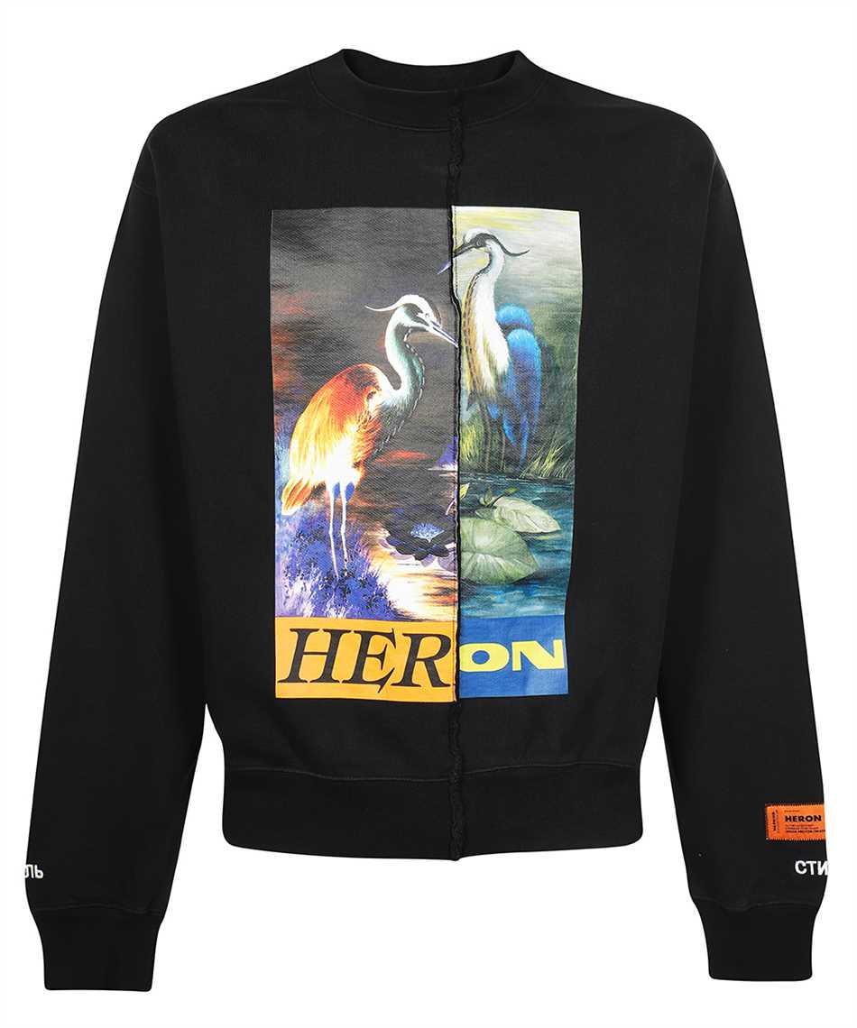 Heron Preston HMBA018F21JER002 SPLIT GRAPHIC Felpa 1