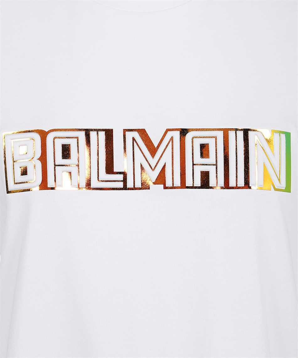 Balmain WF0EF010B098 METALLIC EMBOSSED T-shirt 3