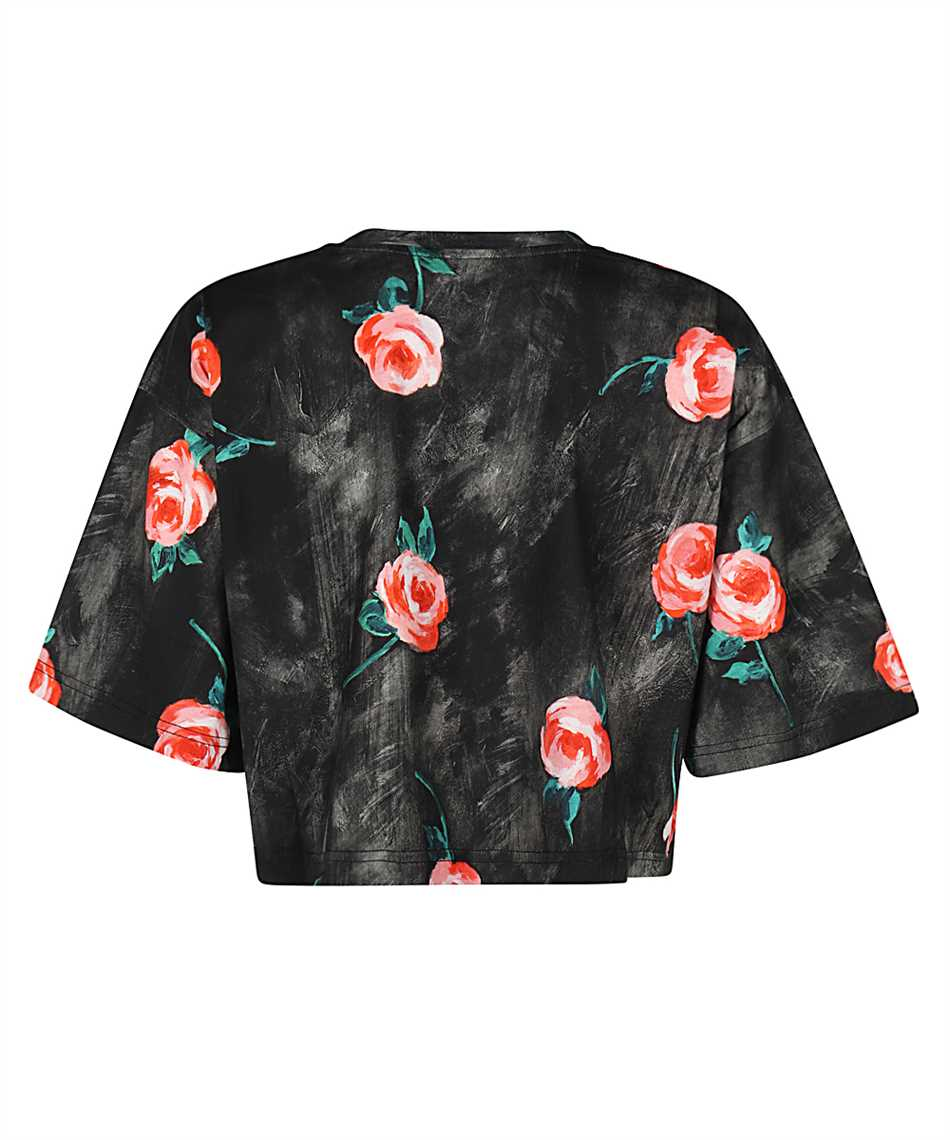 Moschino A0701 540 PAINTED FLOWERS CROPPED T-Shirt 2