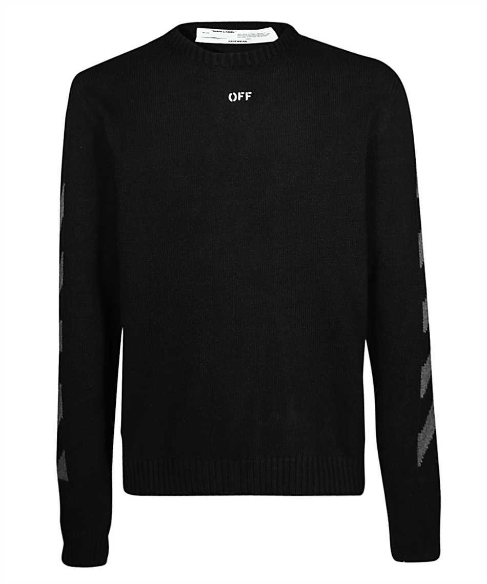 Off-White OMHE023R20G73018 DIAG Knit 1