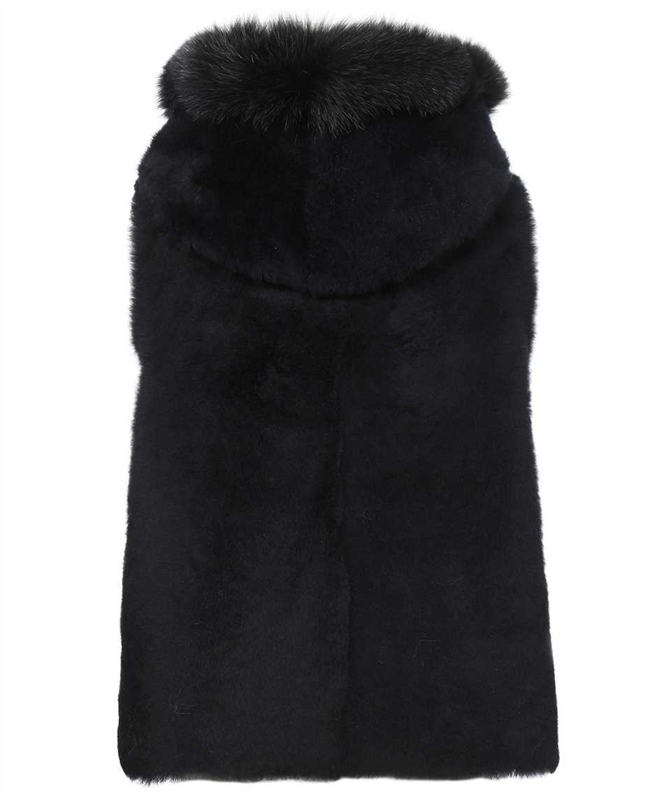 Karl Donoghue CMFHGW1 CASHMERE TOUCH SHEARLING & FOX FUR HOODED Gilet 2