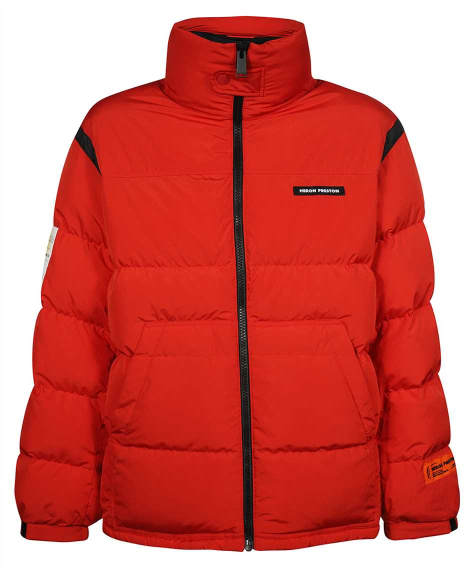 Heron Preston HMED008F21FAB001 LABEL NYLON PUFFER Jacket 1