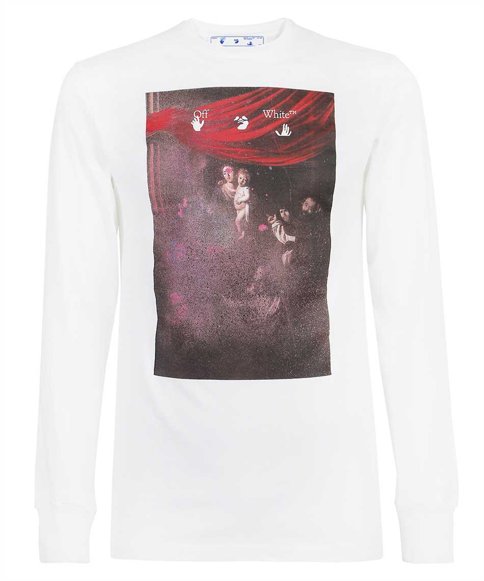 Off-White OMAB001S21JER009 SPRAYED CARAVAGGIO L/S T-shirt 1