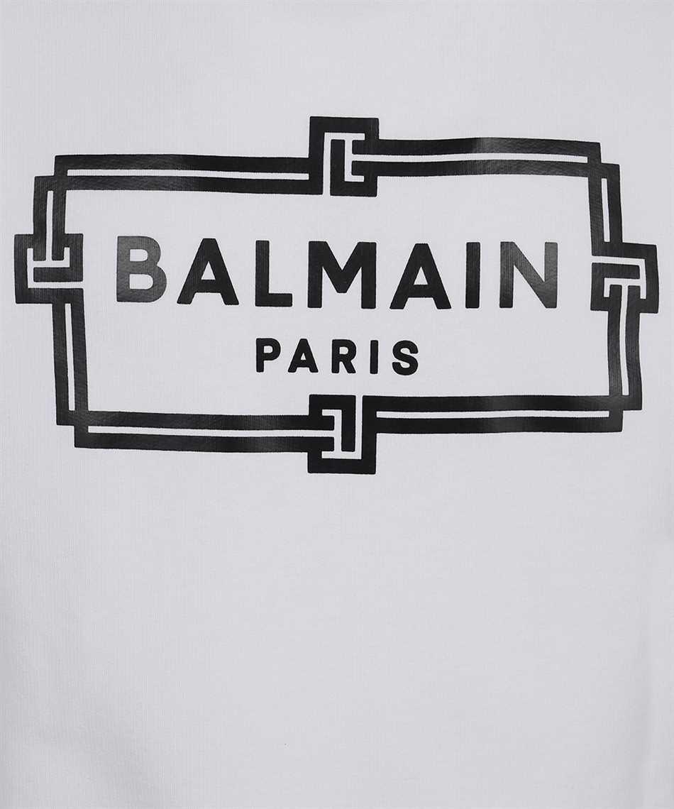 Balmain VH0JQ040G066 BOX LOGO PRINT Sweatshirt 3