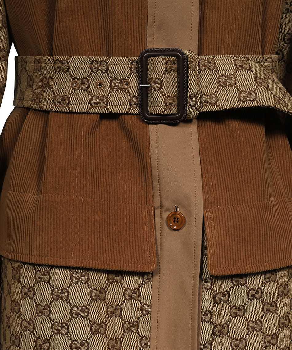 Gucci 652306 Z8AO6 GG CANVAS Cappotto 3