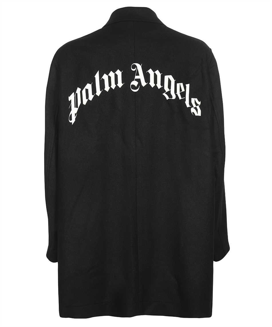 Palm Angels PMEA187F21FAB001 CURVED LOGO Coat 2