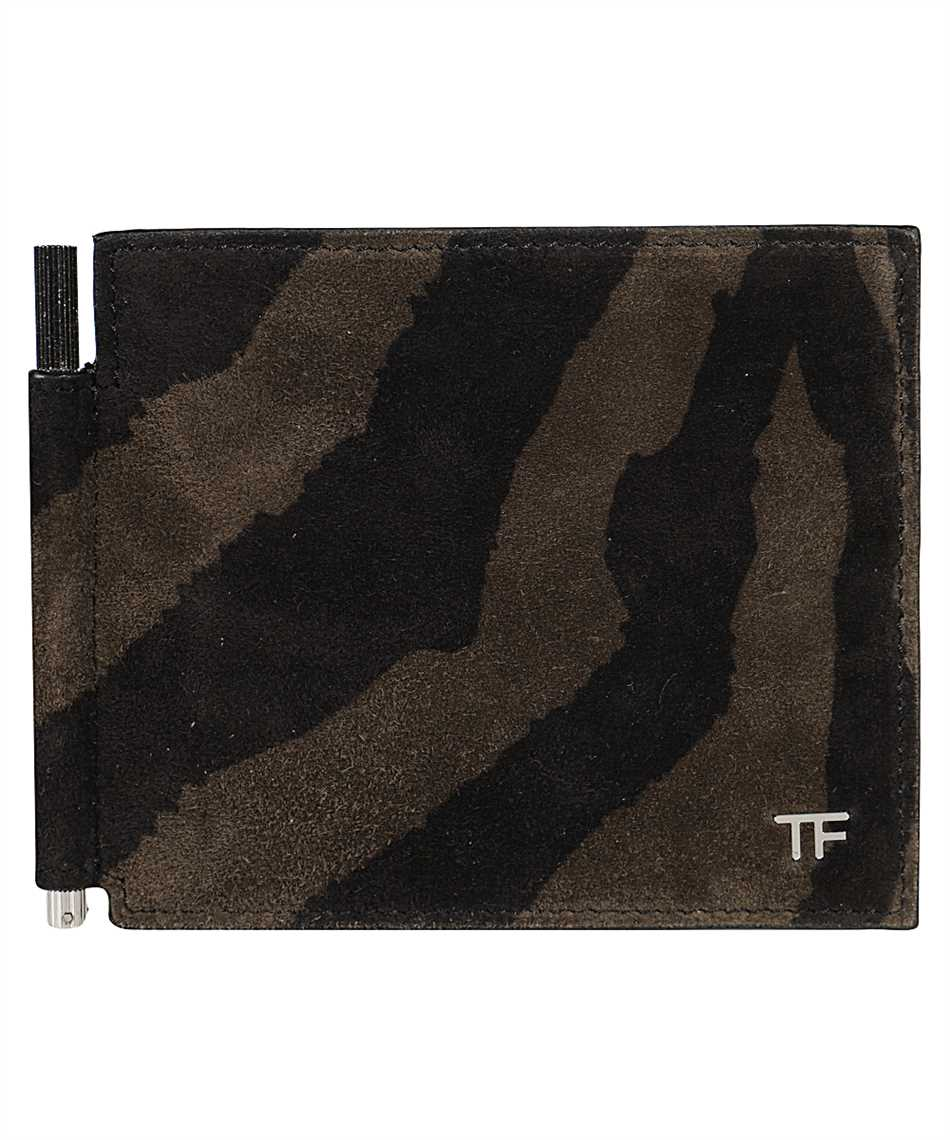 Tom Ford Y0231P-LCL078 ZEBRA SUEDE Wallet 1