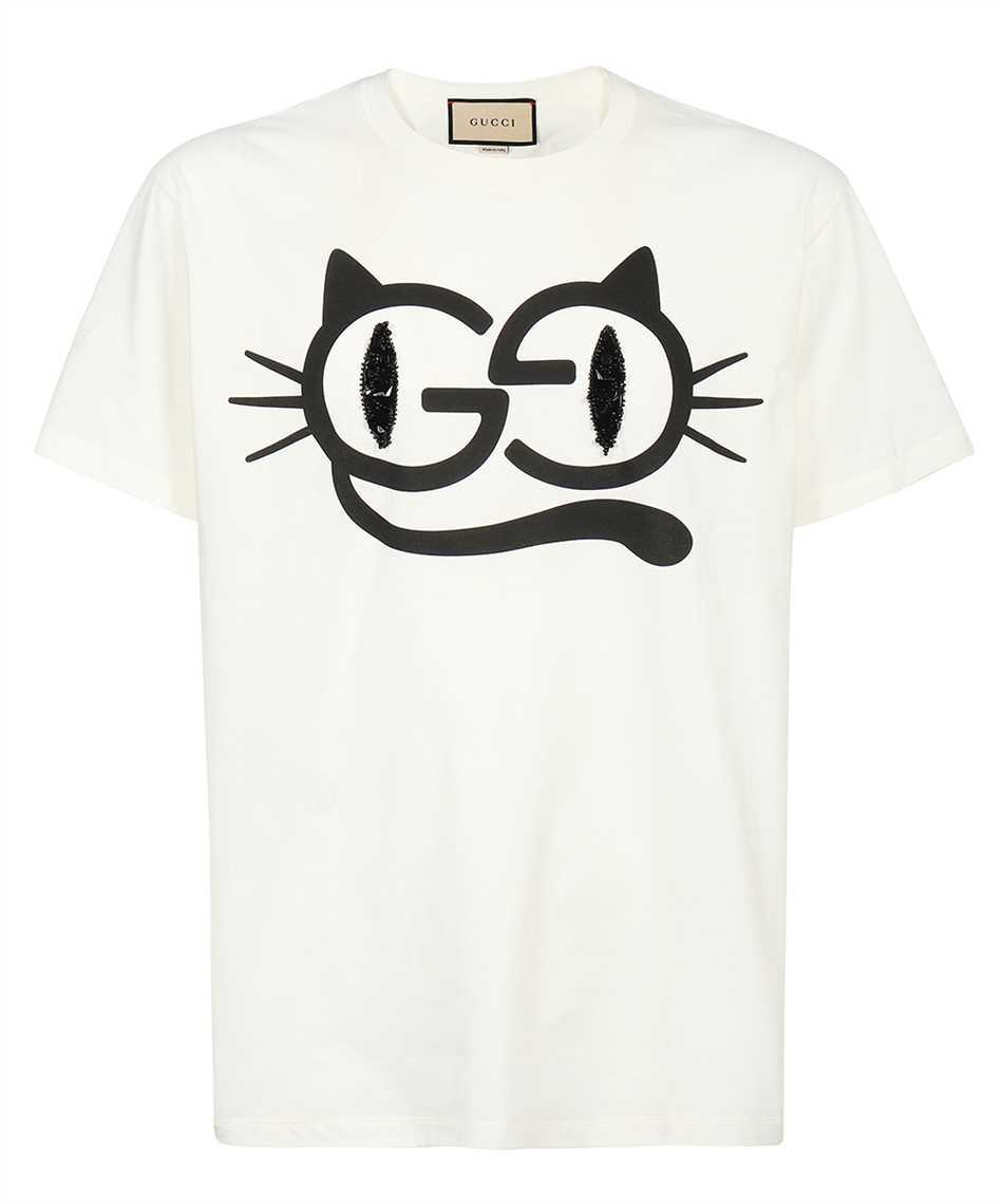 Gucci 615044 XJDGG CAT EYES PRINT COTTON JERSEY T-shirt 1