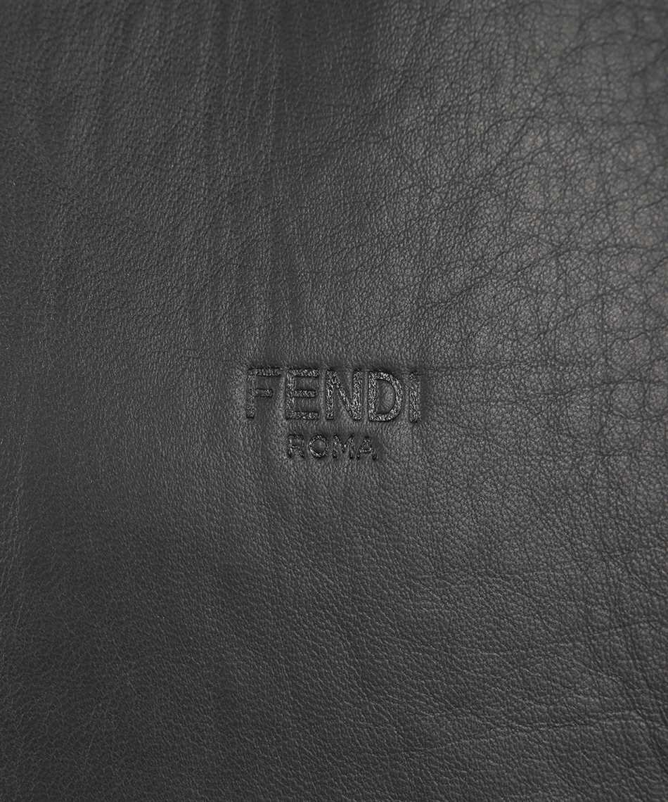 Fendi FPJ046 A4C6 BONDED LEATHER FF Jacket 3