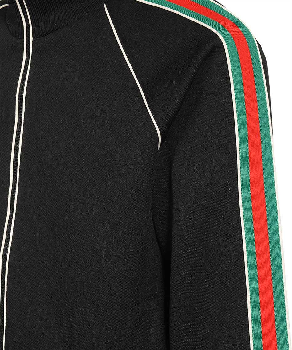 Gucci 662270 XJDE9 GG JACQUARD JERSEY ZIP Giacca 3