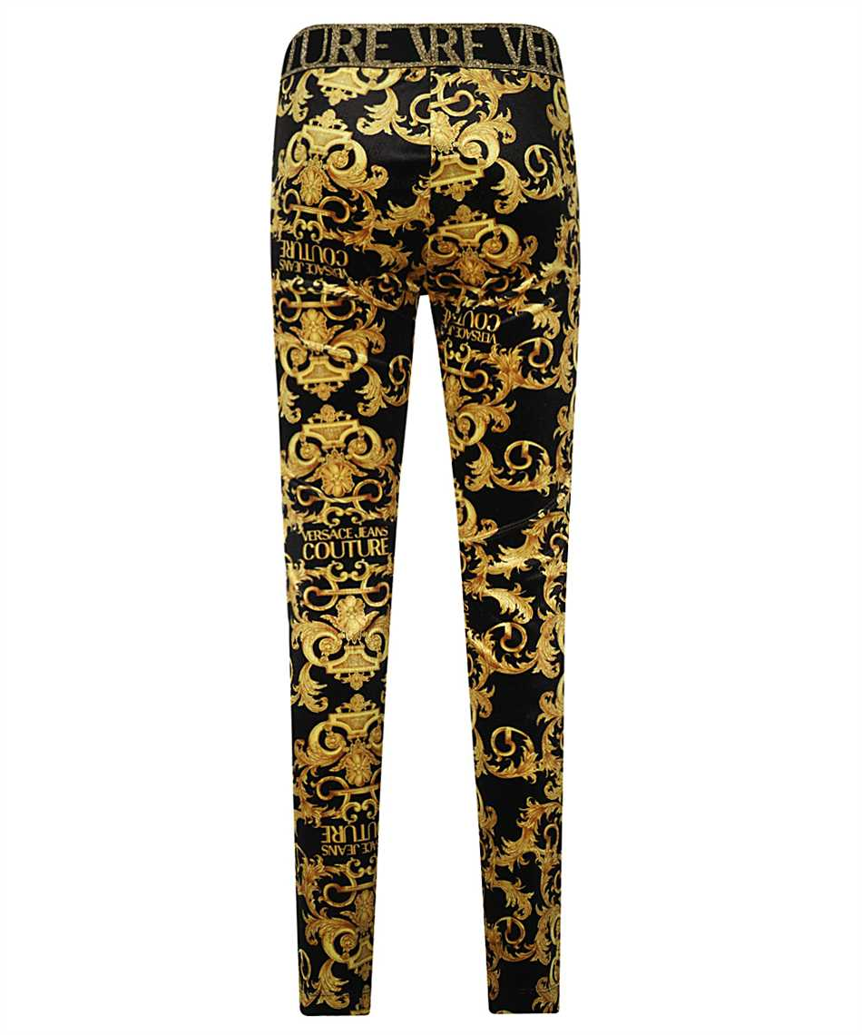 Versace Jeans Couture D5HWA101 S0034 VELVET BAROQE PRINT Trousers 2
