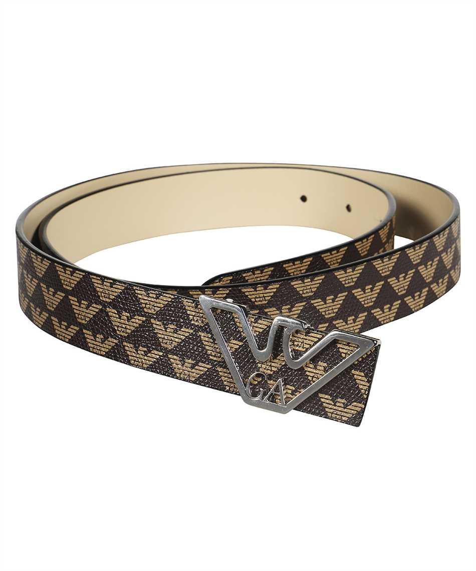 Emporio Armani Y3I048 Y296E MONOGRAM WITH CONTOURED LOGO BUCKLE Cintura 2