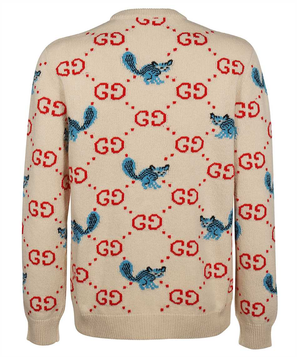 Gucci 661836 XKBXX FREYA HARTAS GG ANIMAL Strick 2