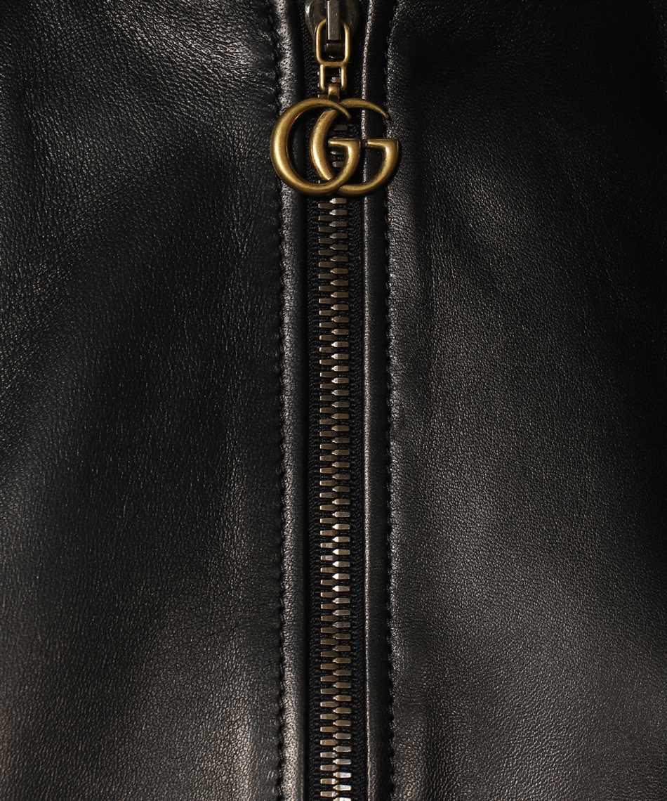Gucci 659238 XNAOU LEATHER BOMBER Jacke 3