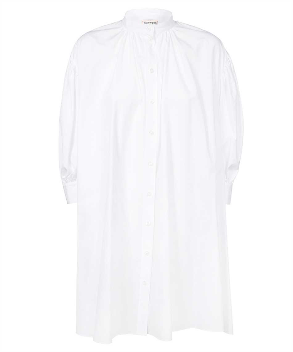 Alexander McQueen 665411 QAAAD COTTON POPLIN TRAPEZE MINI Kleid 1