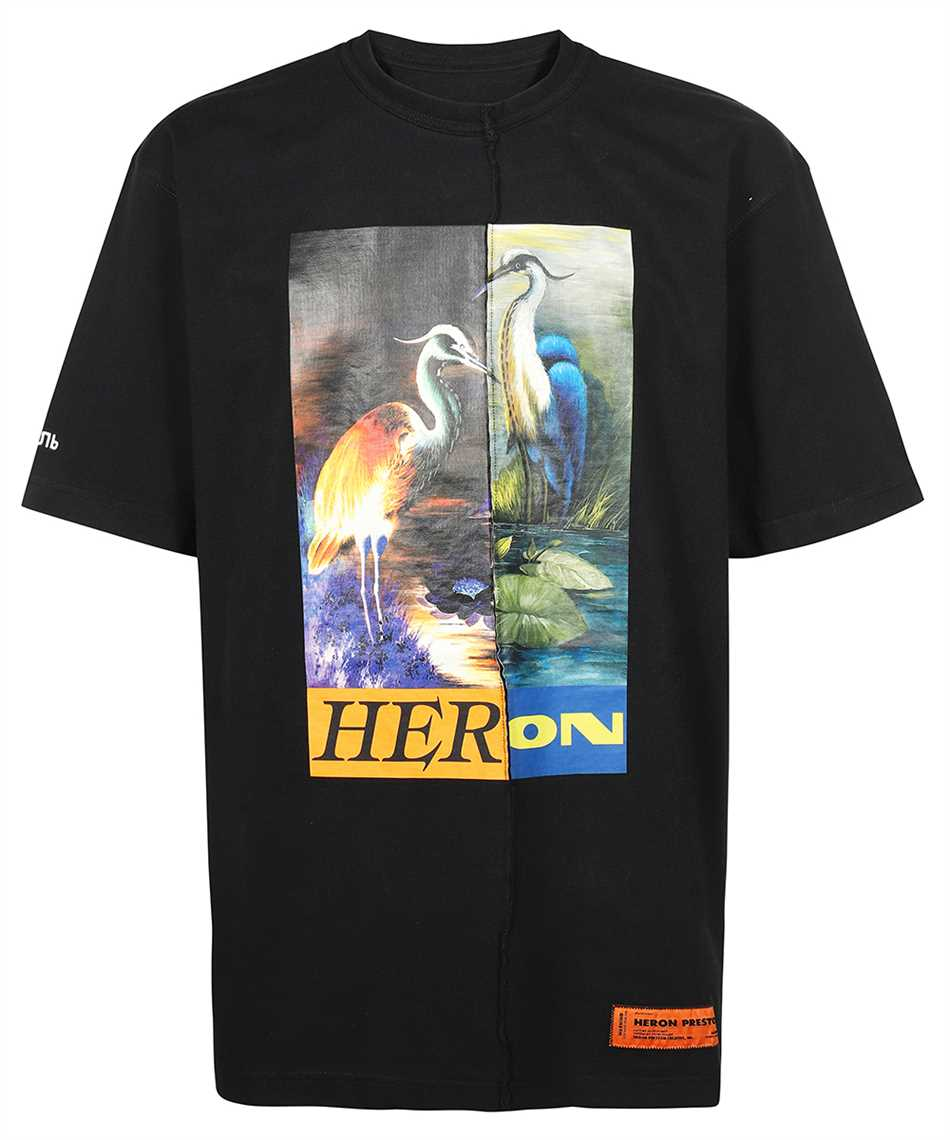 Heron Preston HMAA029F21JER002 SPLIT OVERSIZE S/S T-shirt 1