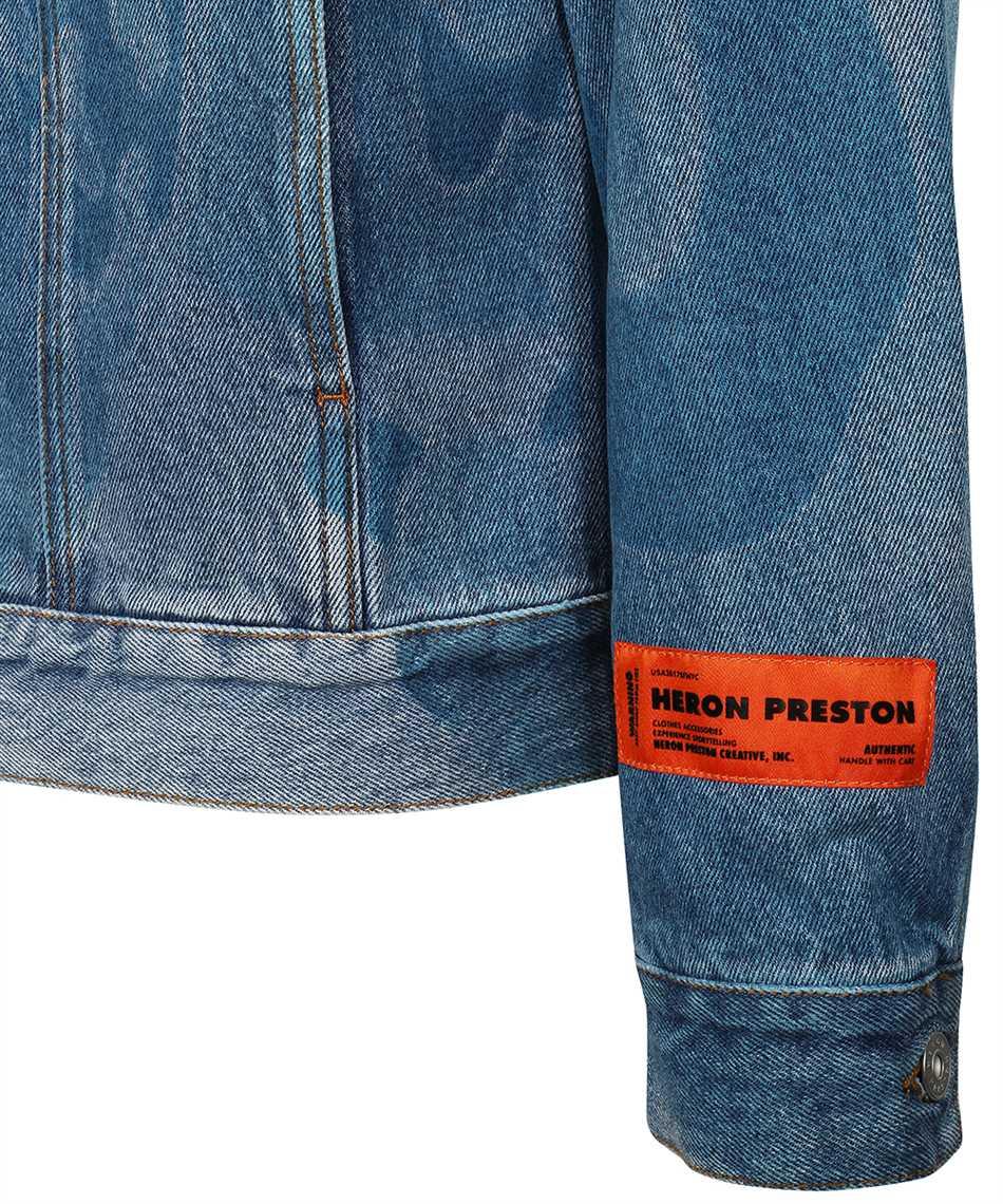Heron Preston HMYE008F21DEN003 DENIM CAMOU REGULAR Jacket 3