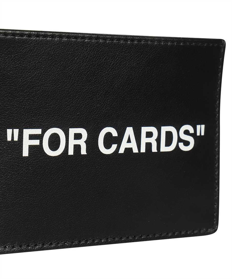 Off-White OMND017F21LEA004 CALF SKIN QUOTE Card holder 3
