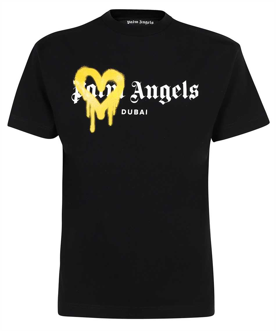 Palm Angels PMAA001F21JER004 DUBAI HEART SPRAYED T-shirt 1