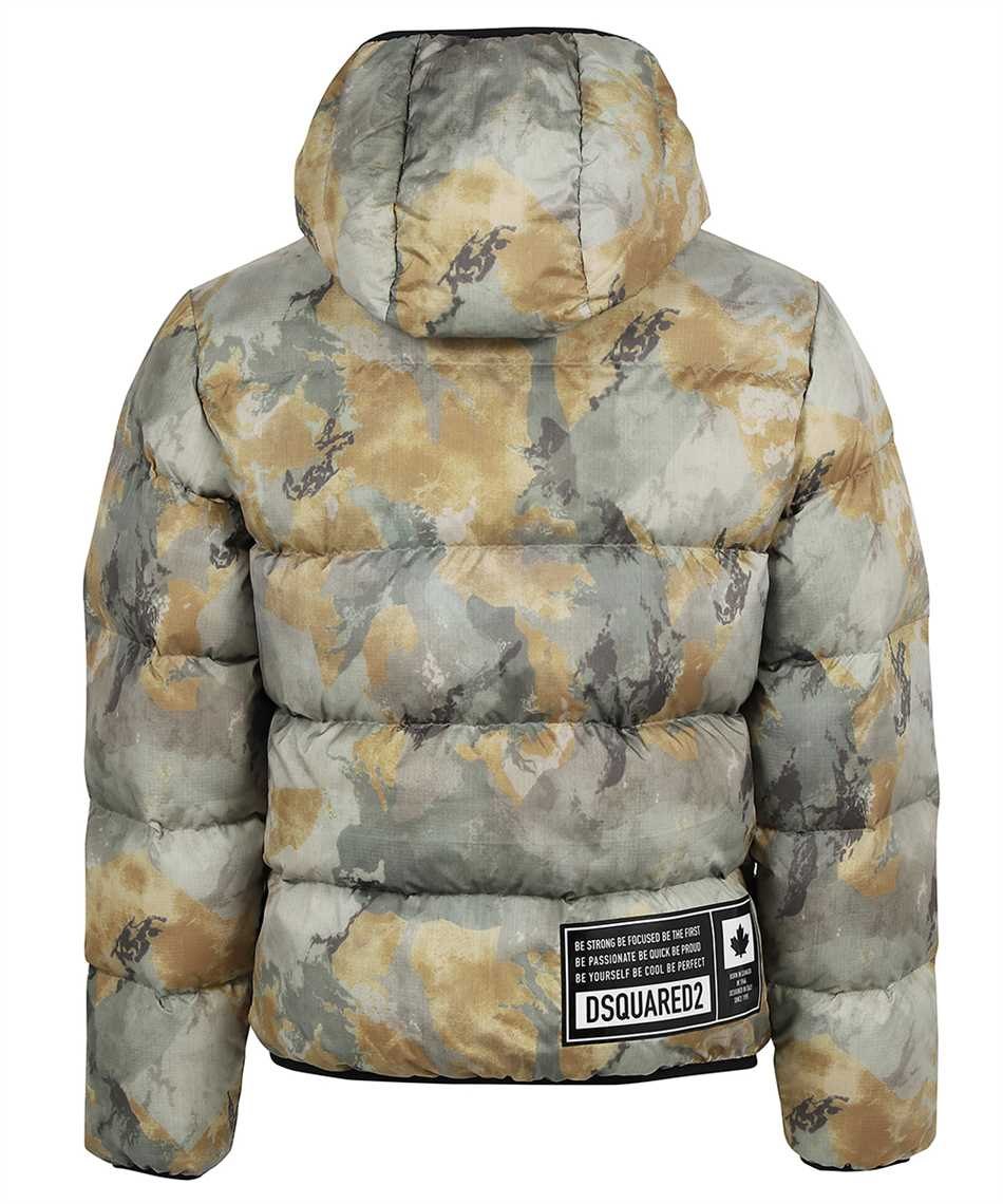 Dsquared2 S74AM1211 S54055 FADED CAMO PUFFER Jacket 2