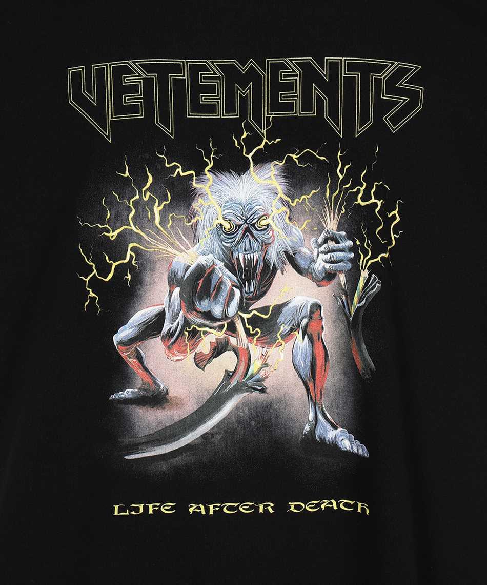 Vetements UE51TR560B ELECTRIC LOGO HEAVY METAL T-shirt 3