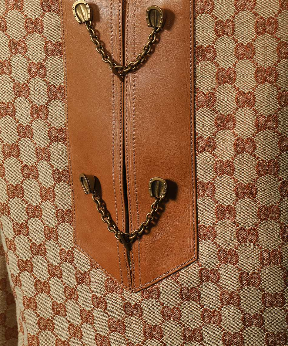 Gucci 655427 Z8AOA GG LINEN CANVAS KAFTAN Dress 3