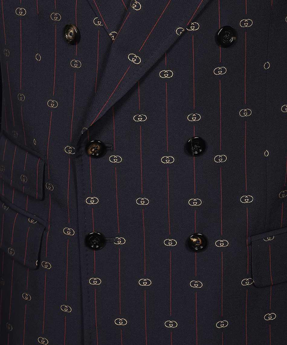 Gucci 660190 ZAGWR INTERLOCKING G STRIPE WOOL Suit 3