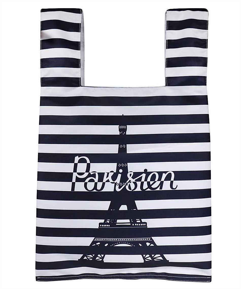 Maison Kitsune GU06125WQ40008 PARISIEN TOWER STRIPES NYLON Borsa 1