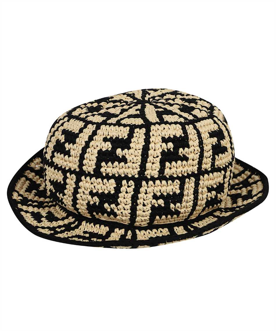 Fendi FXQ688 ADRH RAFFIA BUCKET Hat 1