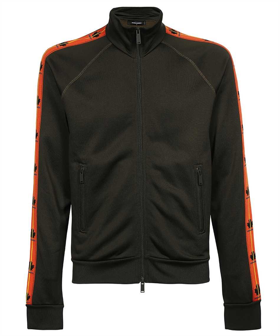 Dsquared2 S74HG0118 S25497 LEAF TAPE ZIP Sweatshirt 1