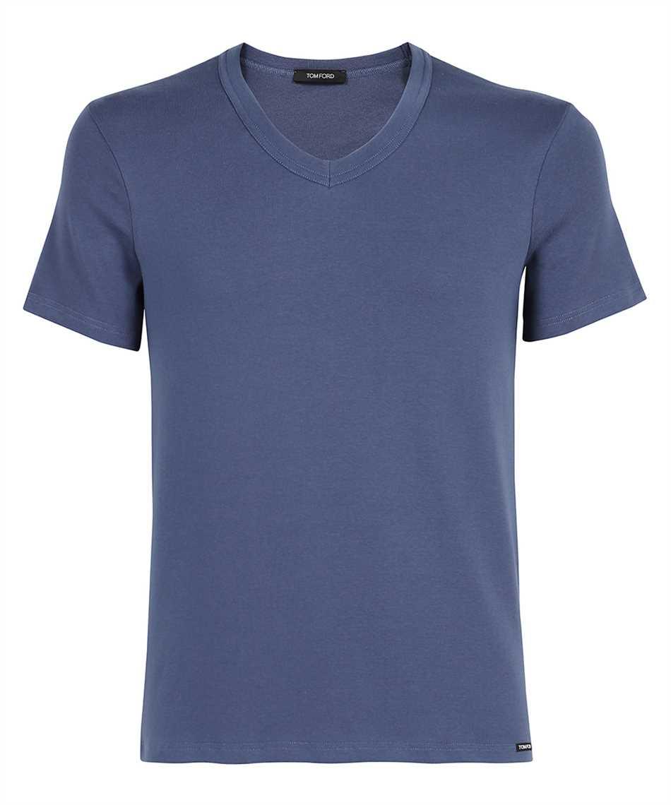 Tom Ford T4M09 104 COTTON V-NECK T-shirt 1