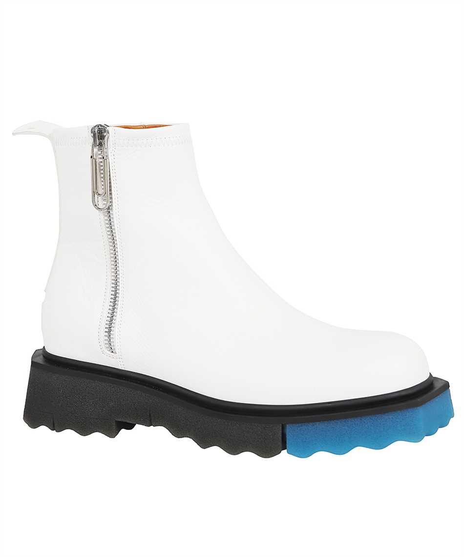 Off-White OMID004F21LEA001 SPONGE SOLE LEATHER ZIP Stiefel 2