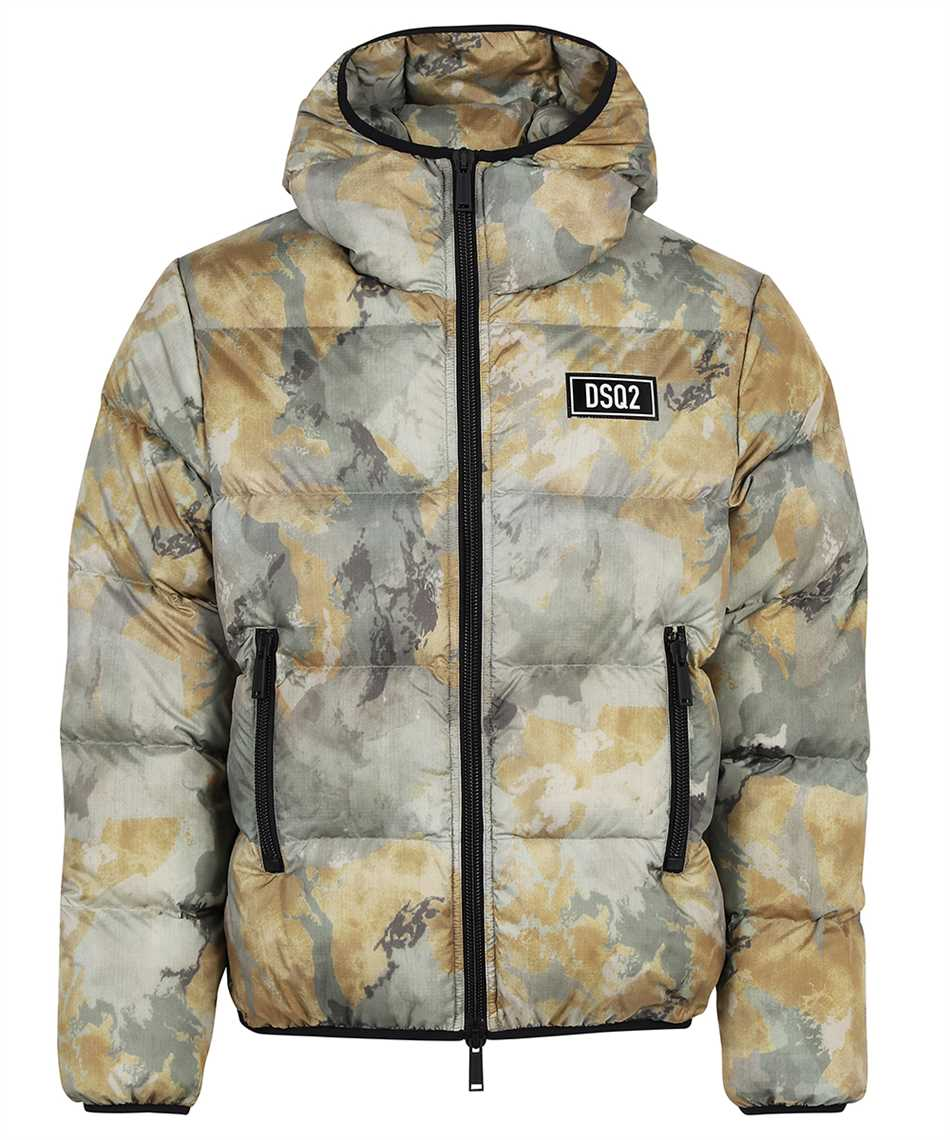 Dsquared2 S74AM1211 S54055 FADED CAMO PUFFER Jacket 1