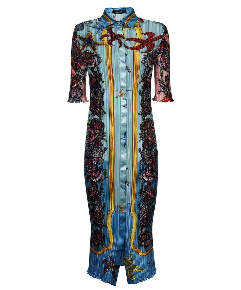Versace A89232 1F01266 TRÉSOR DE LA MER PRINT PLEATED SHIRT Dress 1