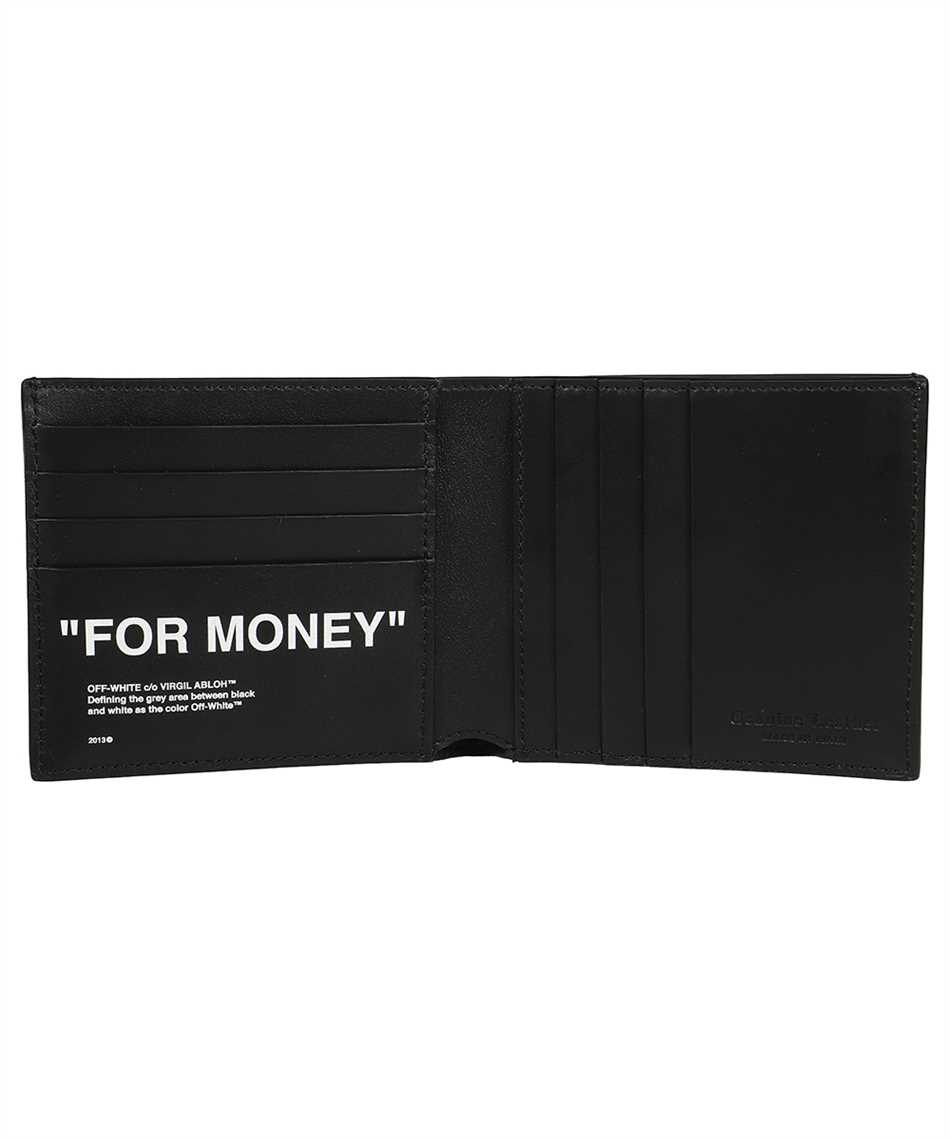 Off-White OMNC032F21LEA003 CALF SKIN QUOTE BIFOLD Wallet 3