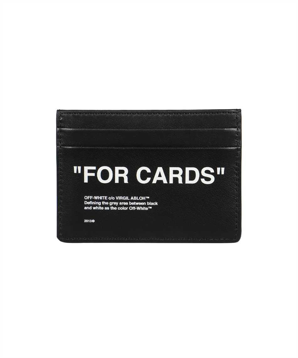 Off-White OMND017F21LEA004 CALF SKIN QUOTE Card holder 2