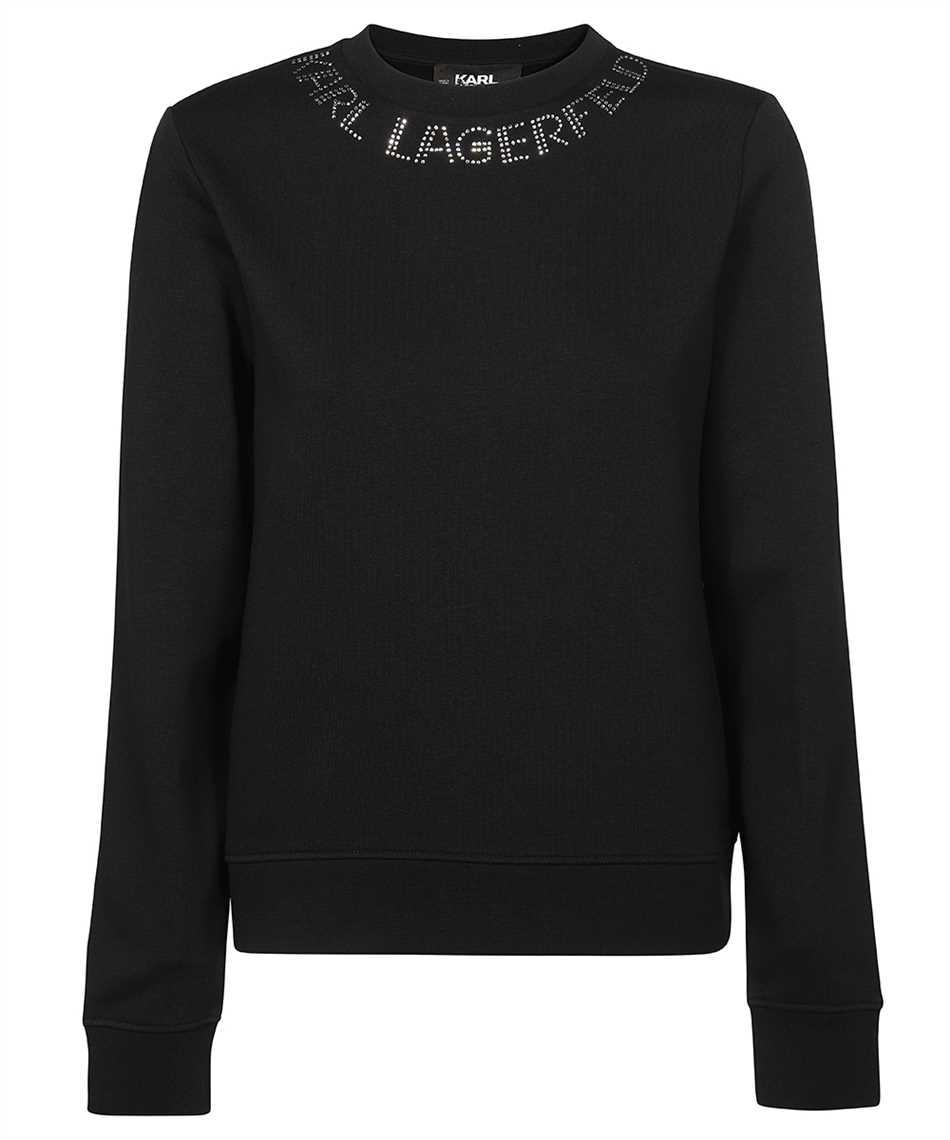 Karl Lagerfeld 216W1801 RHINESTONE KARL LOGO Felpa 1
