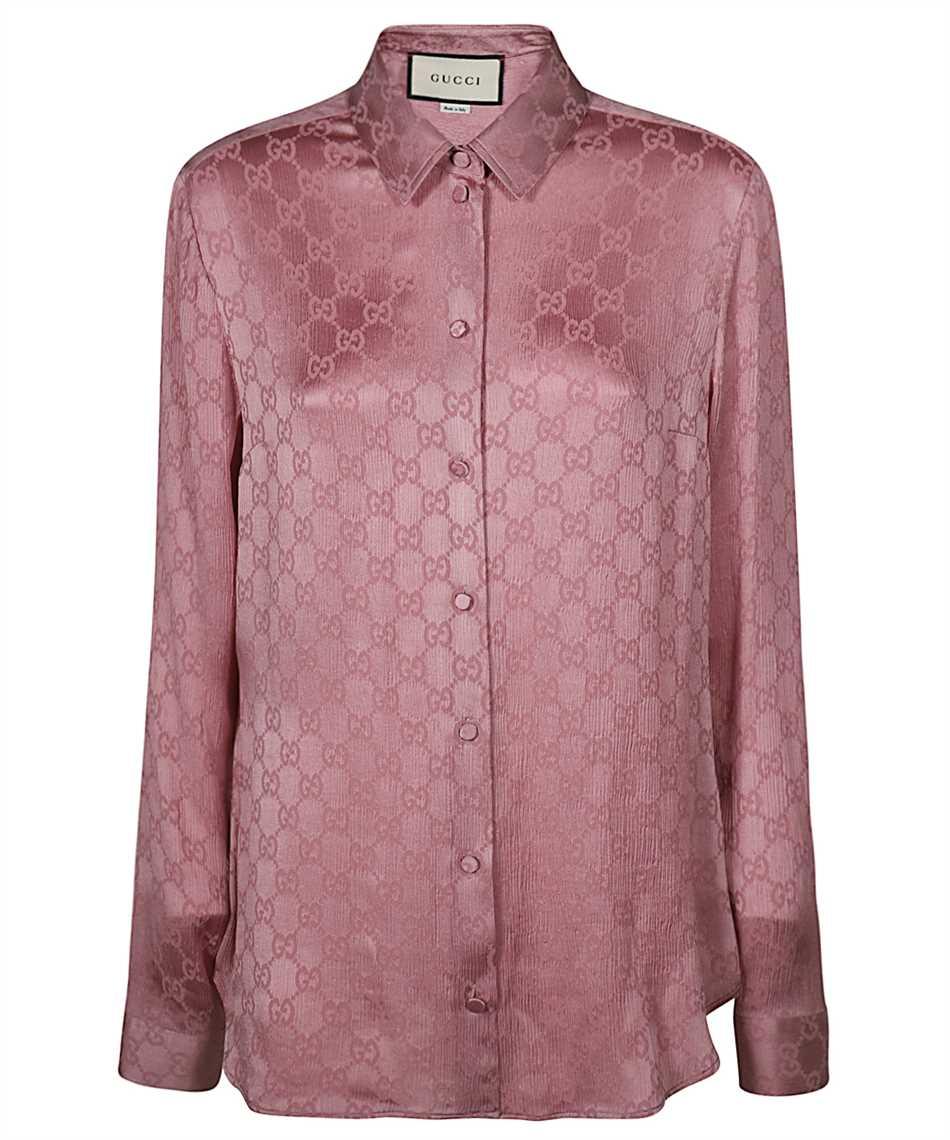 Gucci 627773 ZAEJF GG CREPE Shirt 1