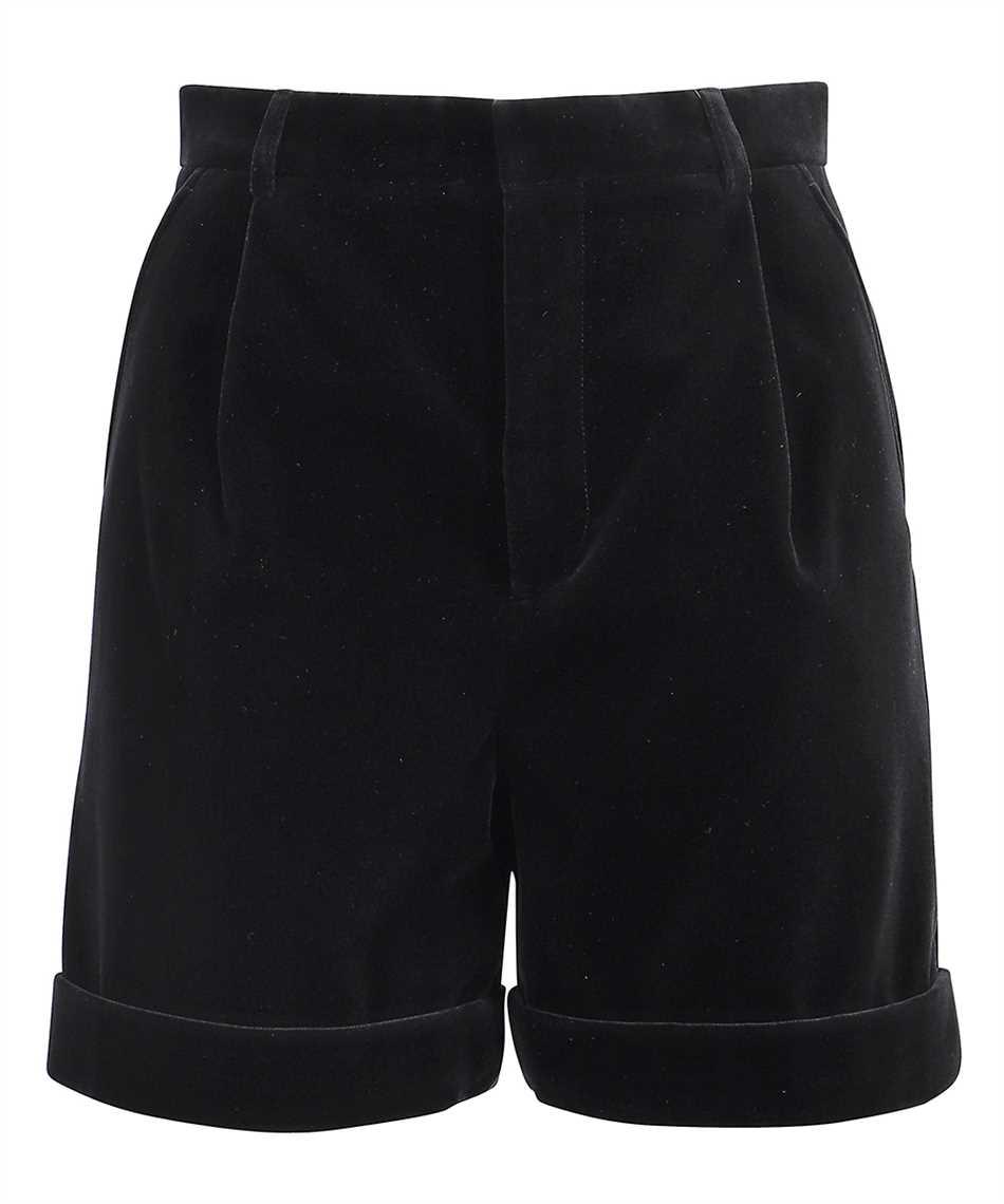 Saint Laurent 661357 Y615W VELVET PLEATED Shorts 1