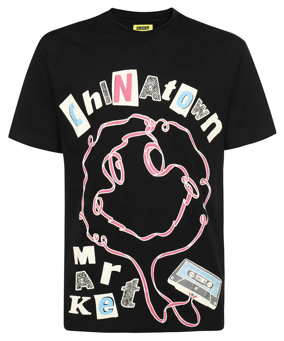 Chinatown Market 1990556 SMILEY TAPE PLAYER T-shirt 1