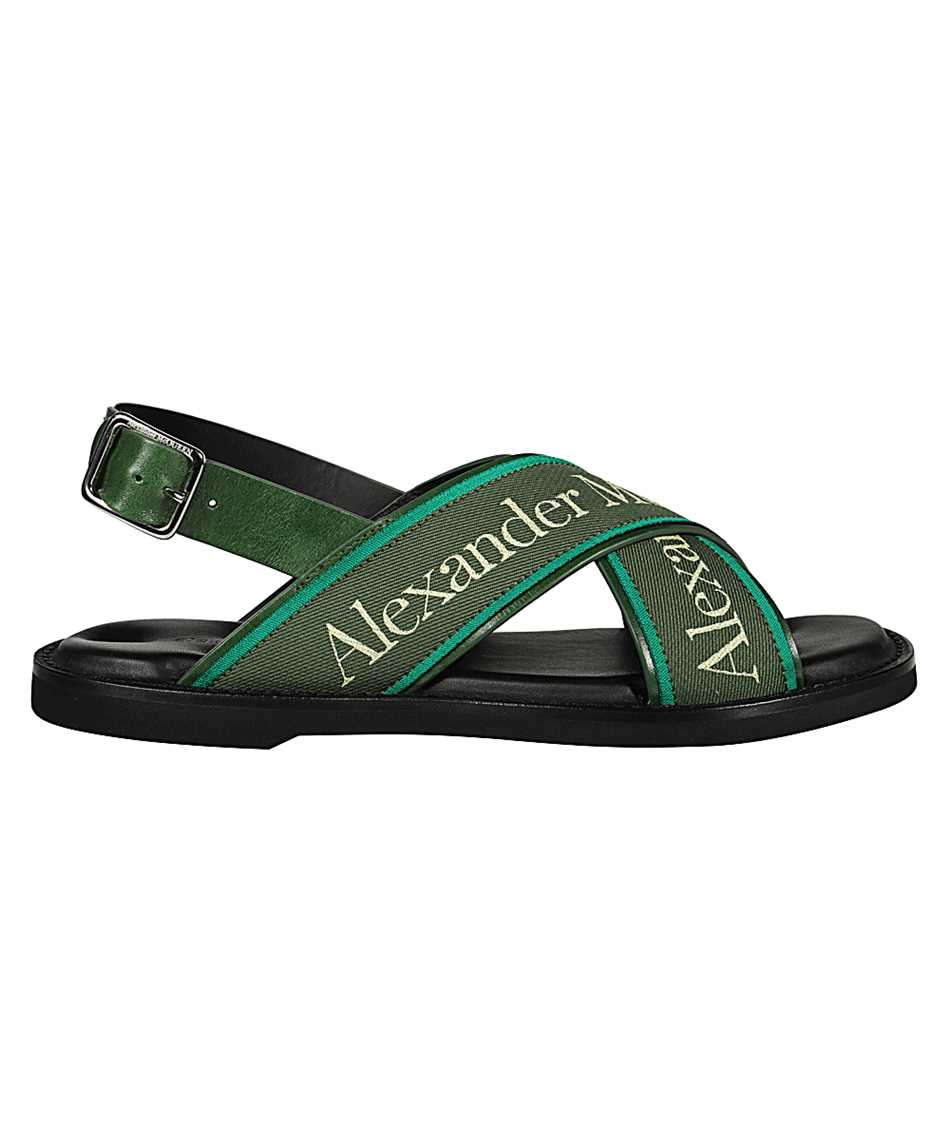 Alexander McQueen 604275 WHRWC CROSS-STRAP Sandals 1