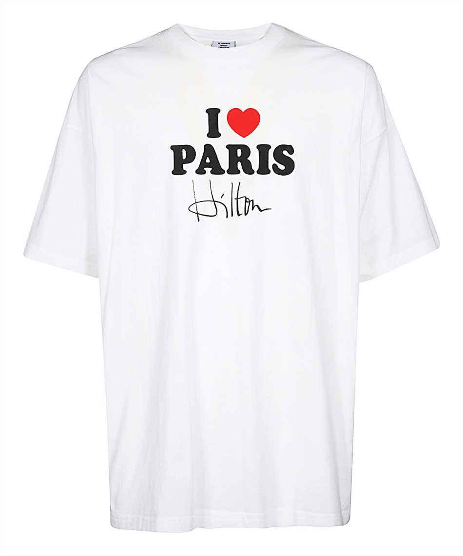 Vetements TR248 I LOVE PARIS T-shirt 1