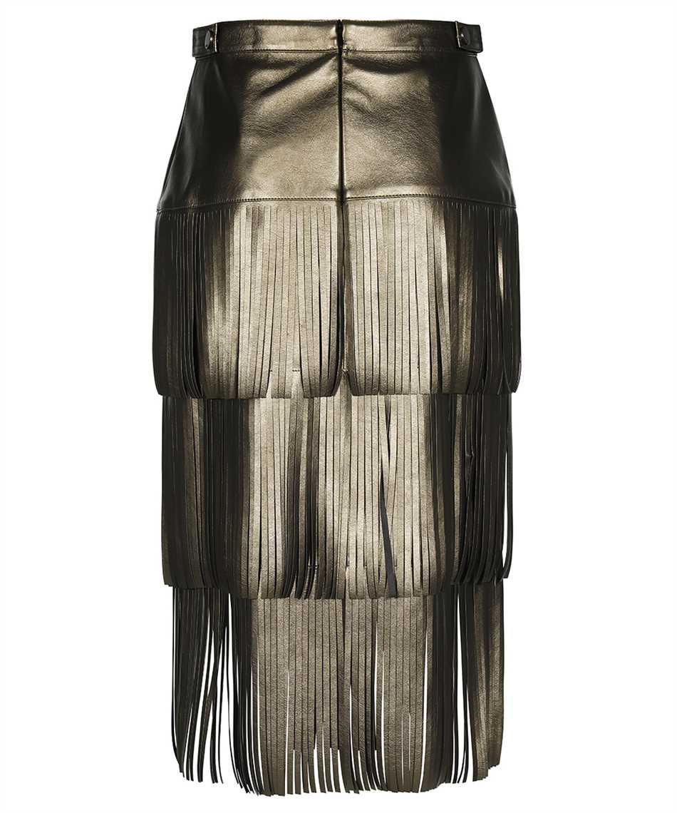 Karl Lagerfeld 216W1206 FAUX-LEATHER FRINGED Gonna 2