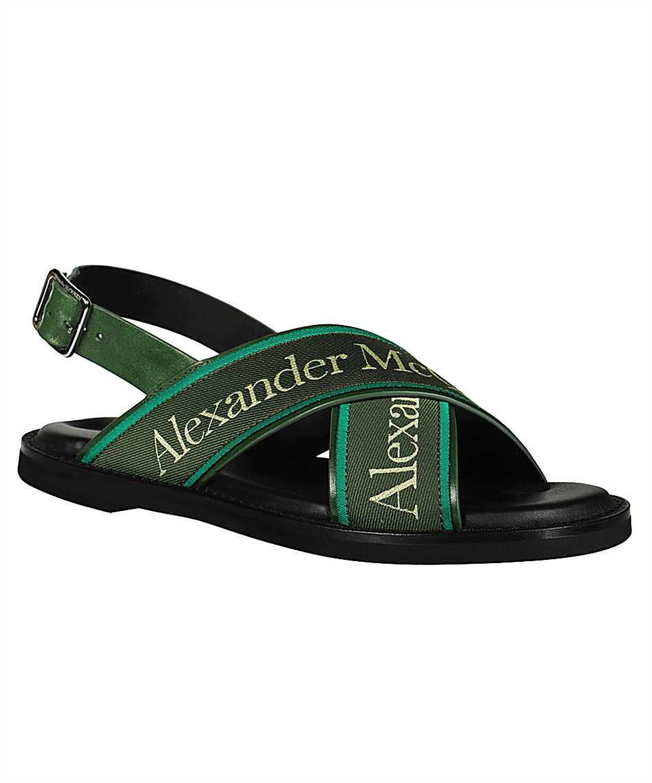 Alexander McQueen 604275 WHRWC CROSS-STRAP Sandali 2