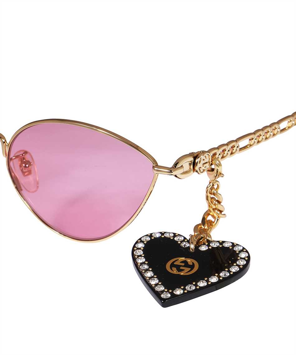 Gucci 663767 I3331 HEART SHAPED CHARMS CAT EYE Sonnenbrille 3