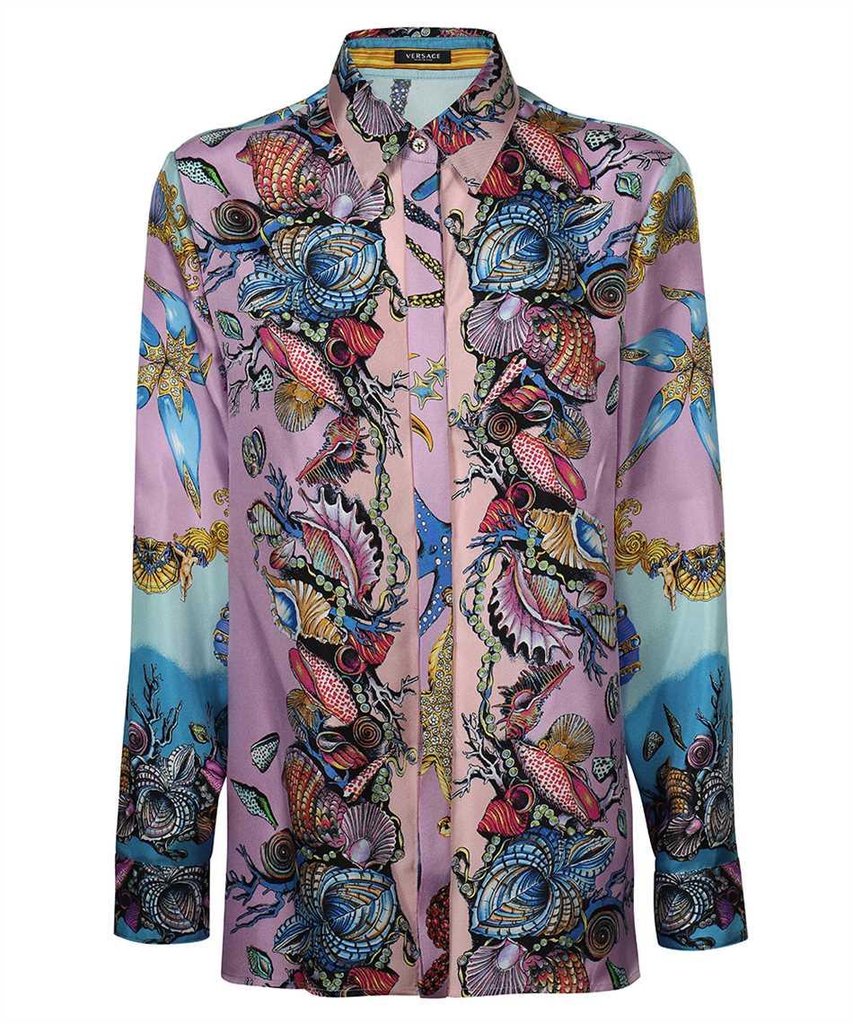 Versace A82662 1F00905 TRÉSOR DE LA MER PRINT SILK TWILL Shirt 1