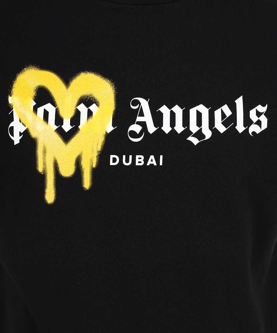 Palm Angels PMAA001F21JER004 DUBAI HEART SPRAYED T-shirt 3